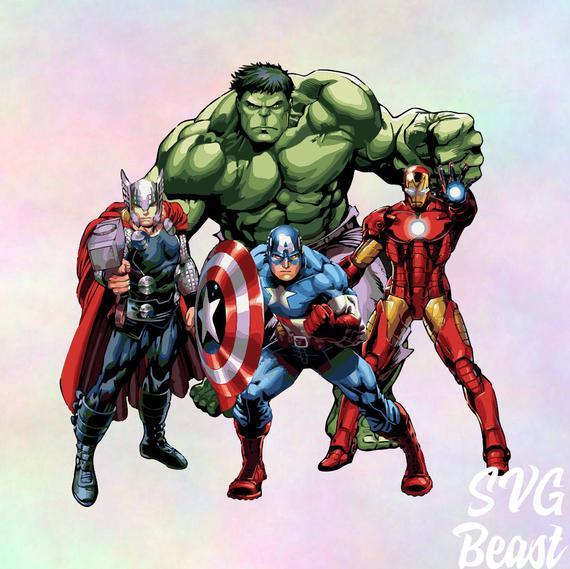 Marvel vector files svg. Avengers clipart pdf
