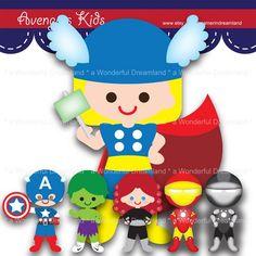 Superhero avenger kids boy. Avengers clipart pdf