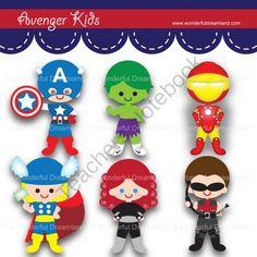 Avengers clipart pdf. Superhero avenger kids boy