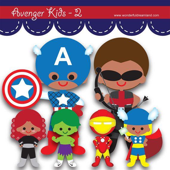 Printable clip art digital. Avengers clipart pdf