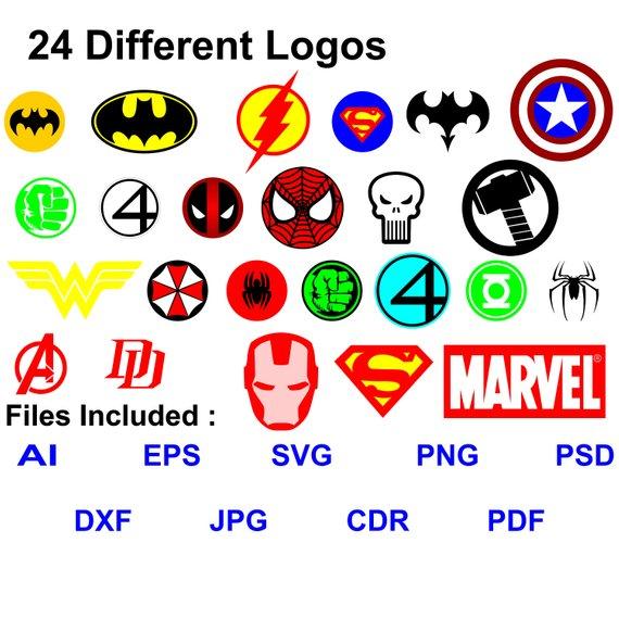 off superheroes logos. Avengers clipart pdf