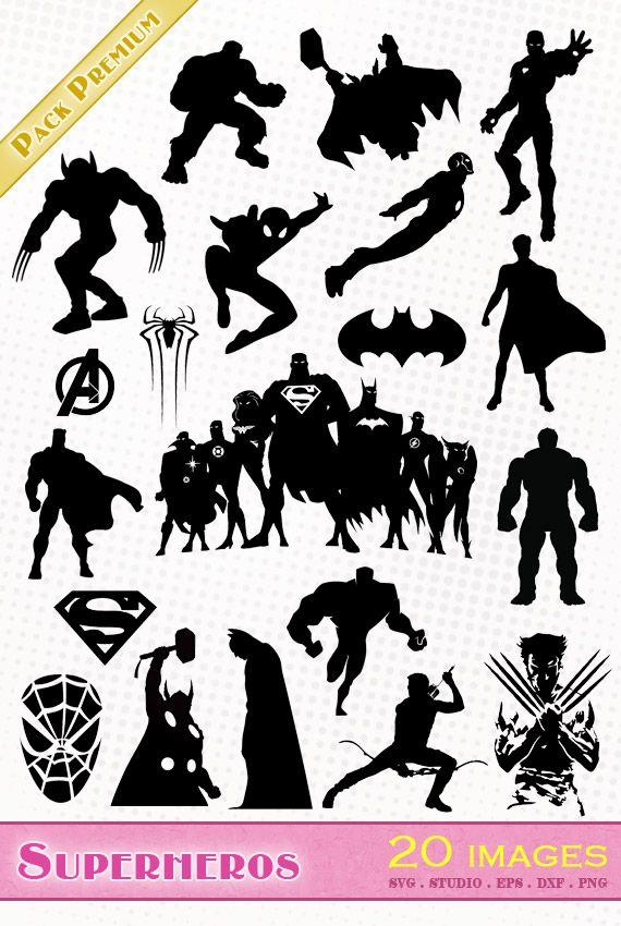 Avengers clipart silhouette. Marvel fichiers svg eps