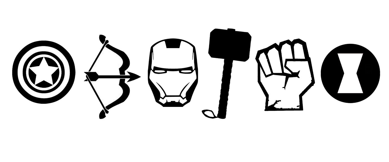 The t shirt stencil. Avengers clipart silhouette