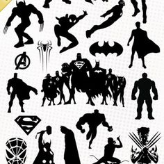 Marvel fichiers svg eps. Avengers clipart silhouette