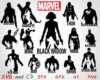 Sale the set marvel. Avengers clipart silhouette