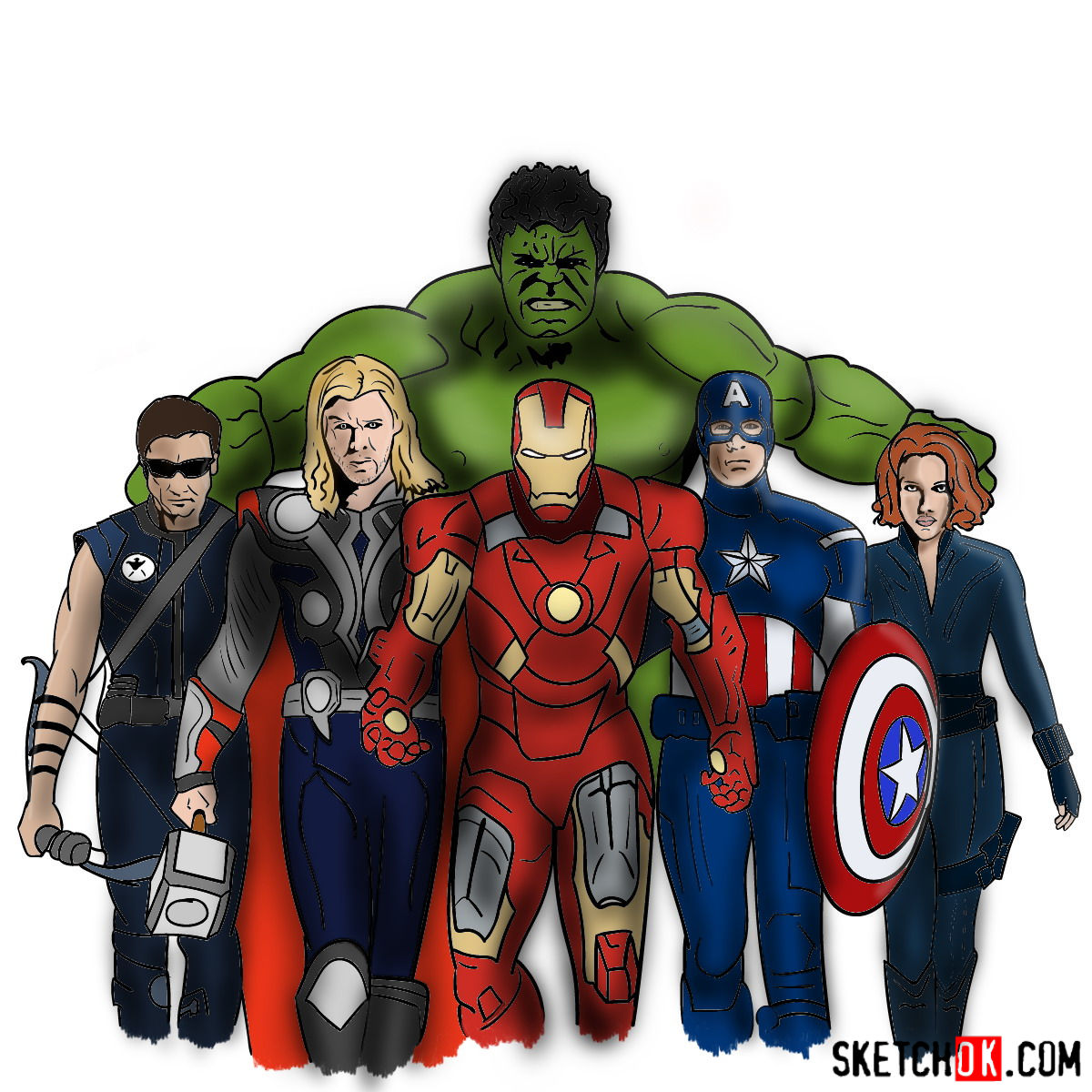Avengers clipart superhero group. How to draw the