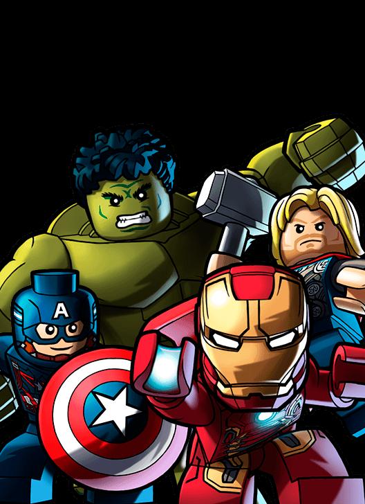 Image big four png. Avengers clipart superhero group
