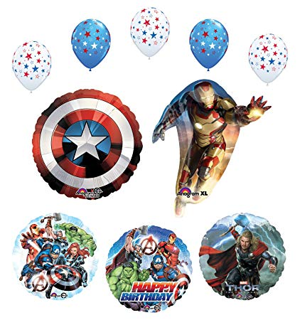 Birthday party supplies and. Avengers clipart superhero group