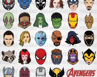 Avengers clipart svg. Etsy