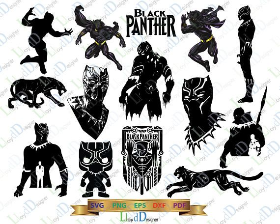 Avengers clipart svg. Marvel black panther pack