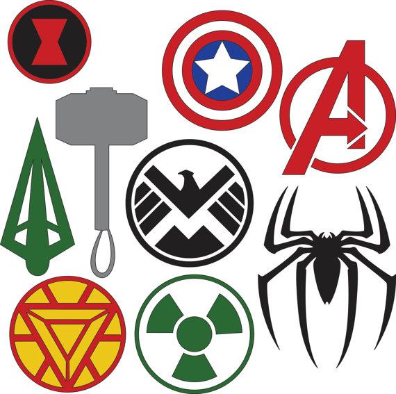 Avengers clipart svg. Marvel superhero logos dxf