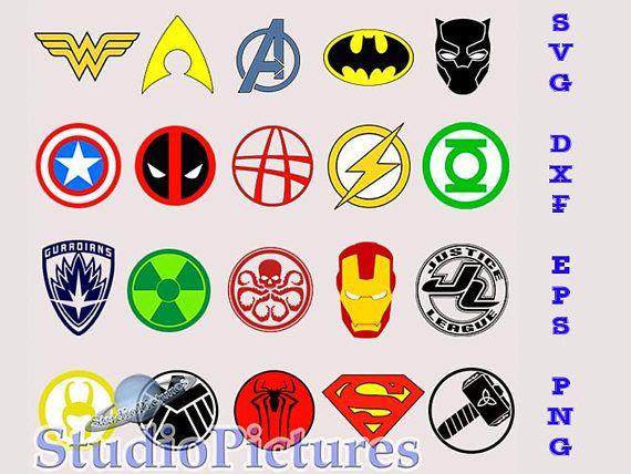 Cilpart shining superhero logo. Avengers clipart svg