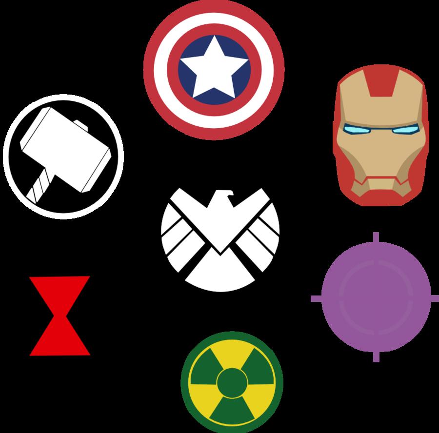 Hammer clipart thor. Marvel avengers symbols by