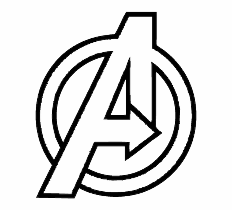 Avengers clipart symbol. Logo white png download