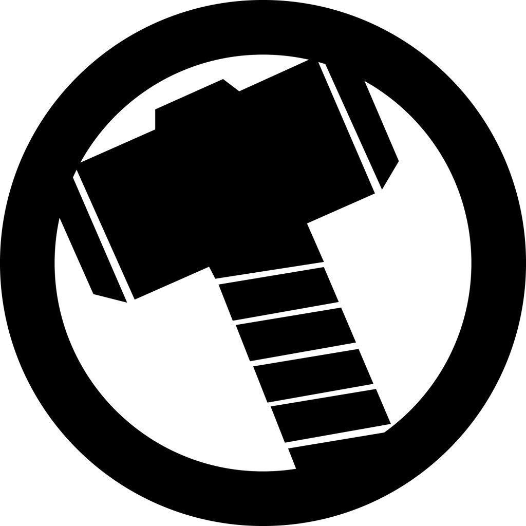 Inspiration thor s hammer. Avengers clipart symbol