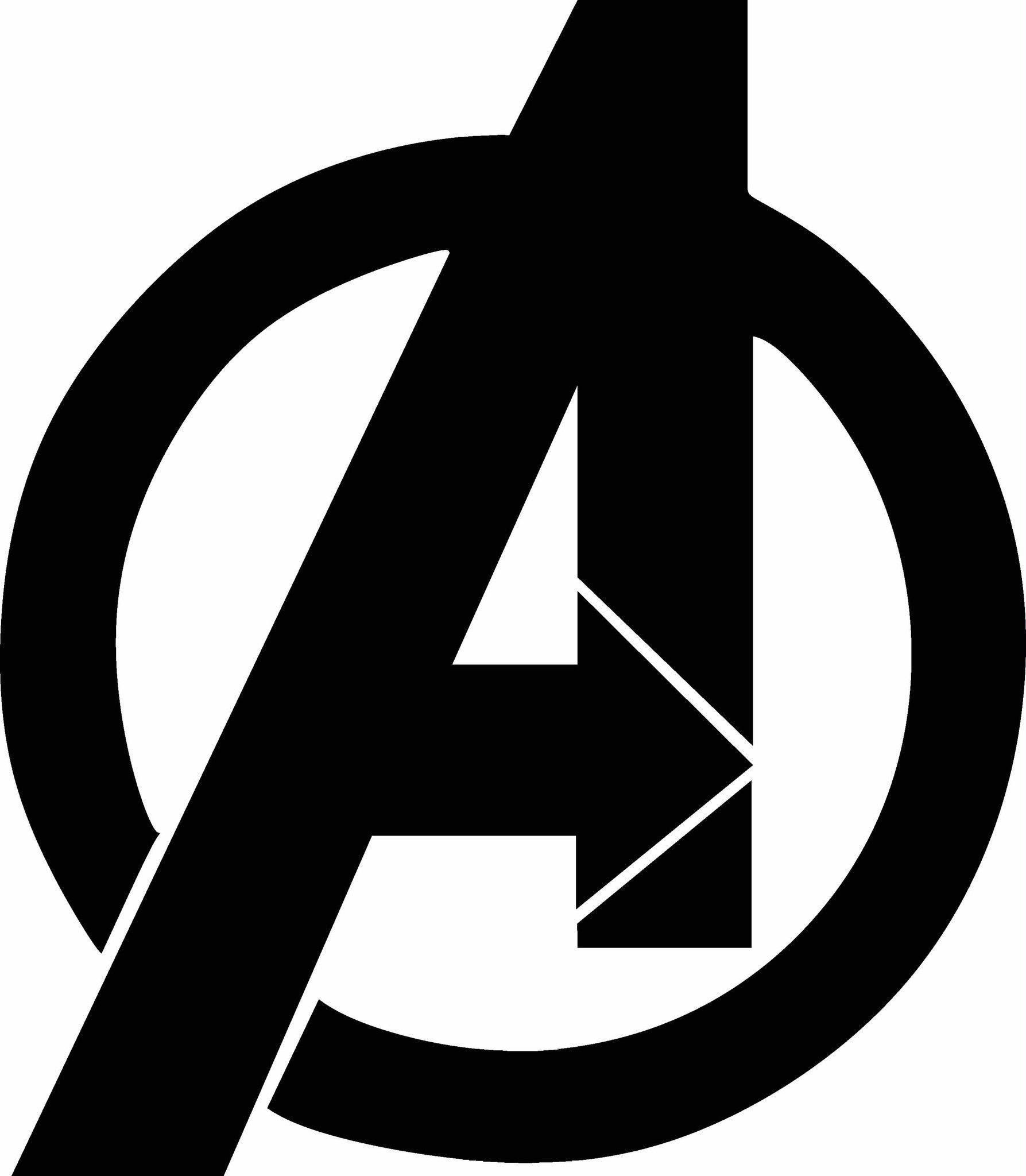 Logo vinyl decal graphic. Avengers clipart symbol