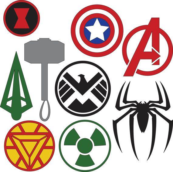 Avengers clipart symbol. Marvel superhero logos svg