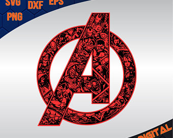 Avengers clipart symbol. Svg etsy