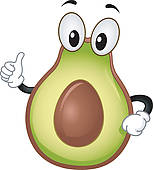 Clip art royalty free. Avocado clipart