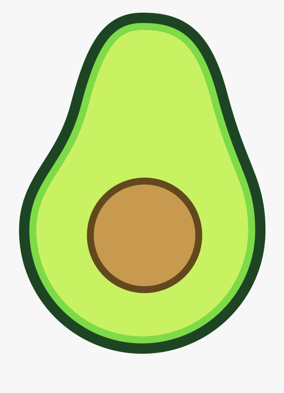 Avocado clipart. Image cartoon png free