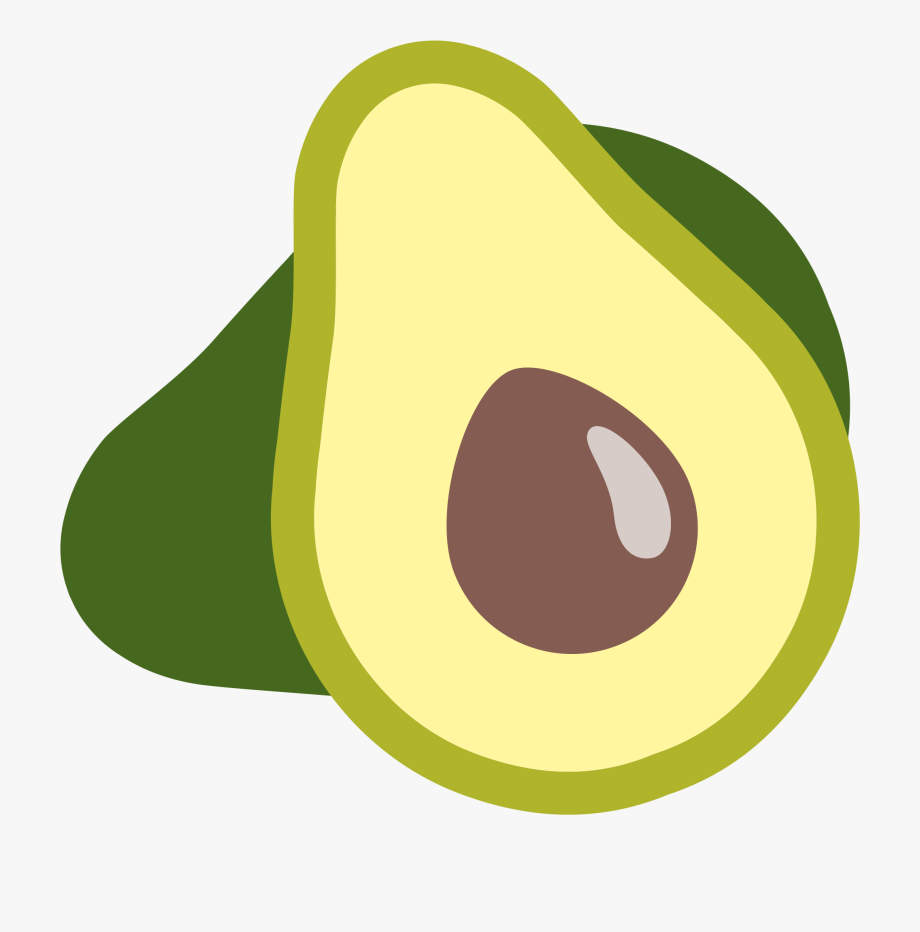 Cute cartoon transparent . Avocado clipart
