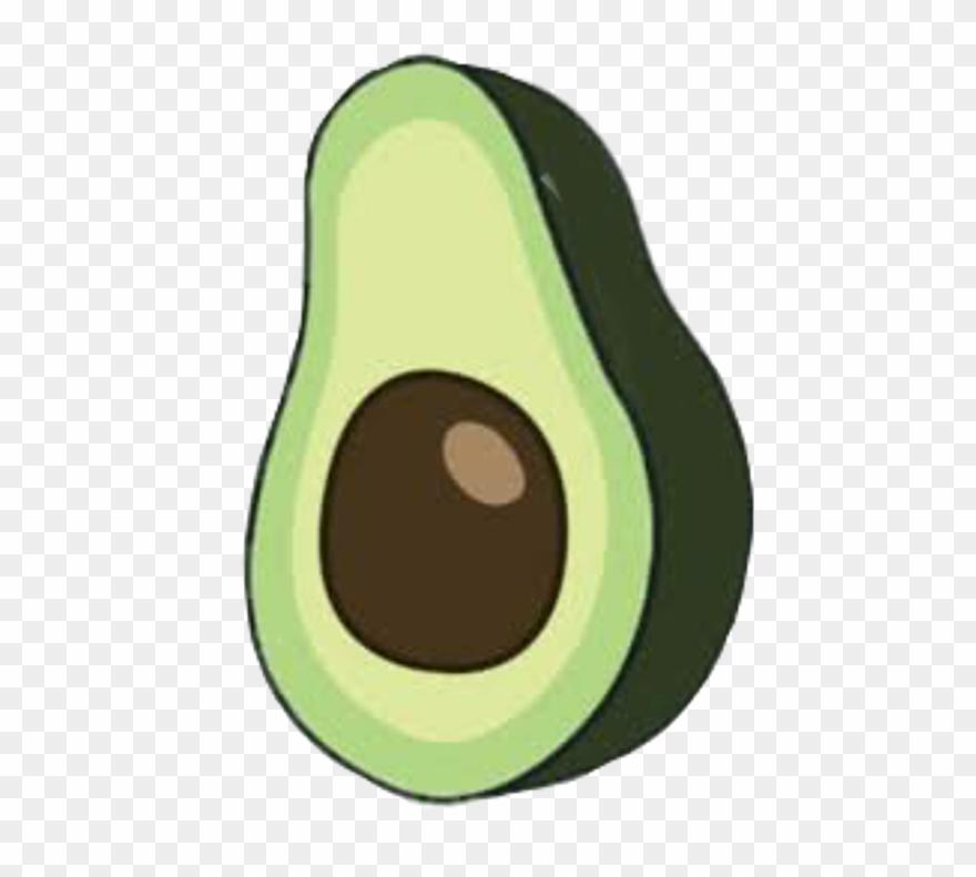 Avocado clipart abocado. Aesthetic png pinclipart