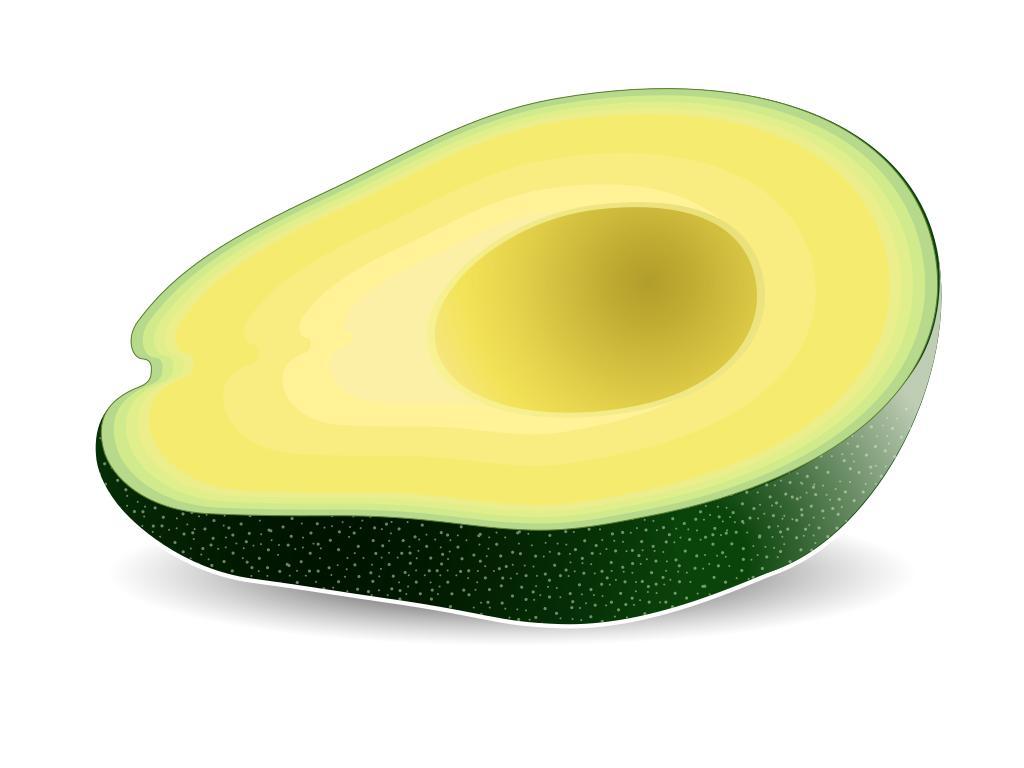 Design droide. Avocado clipart abocado