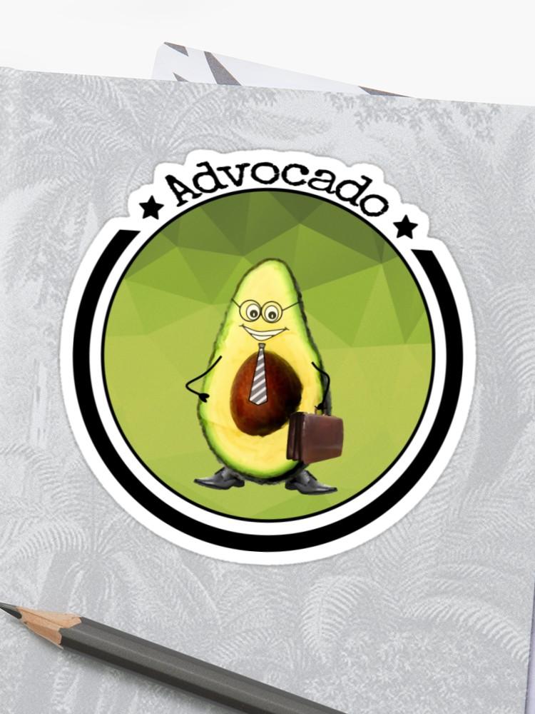 Advokat vegan t shirt. Avocado clipart advocado