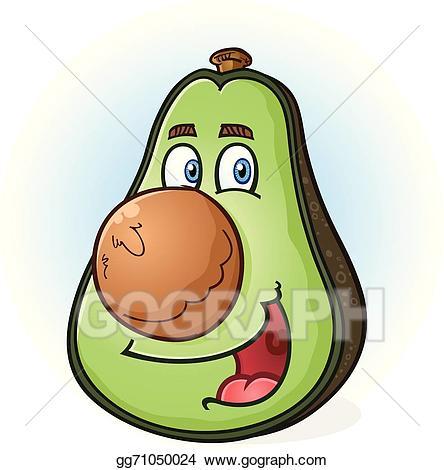 Avocado clipart animated. Vector stock cartoon character