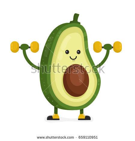 . Avocado clipart atis
