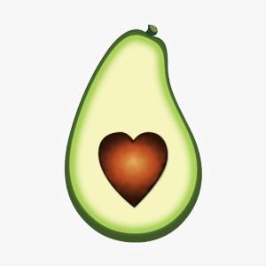 Fruit stone png image. Avocado clipart avacado