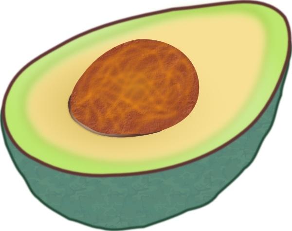 Clip art free vector. Avocado clipart avacado