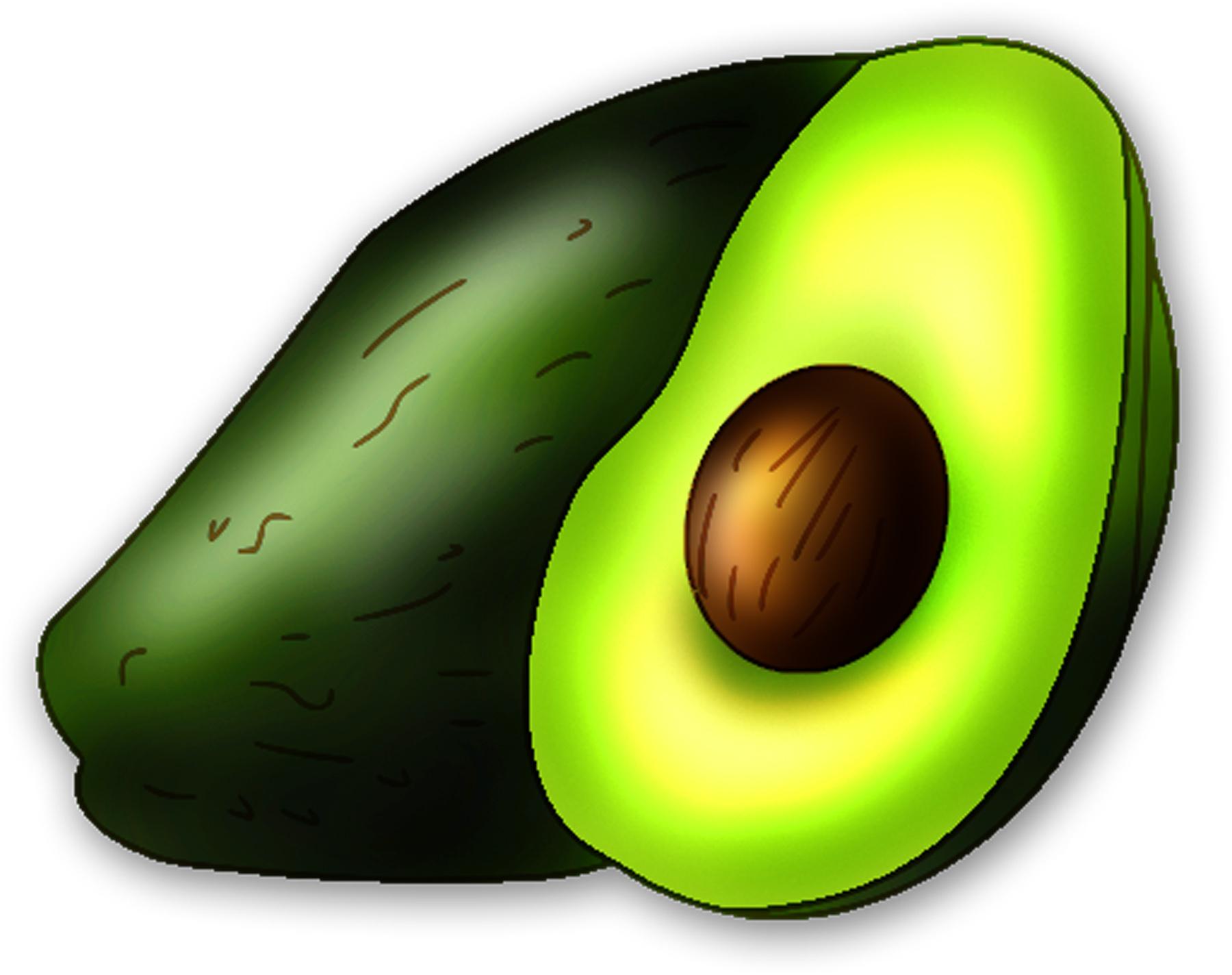 Avocado clipart avacodo. Px image