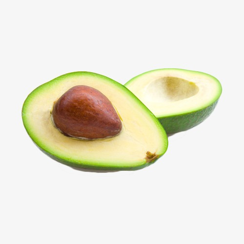 Avocado clipart avocado half. Two cut slit png