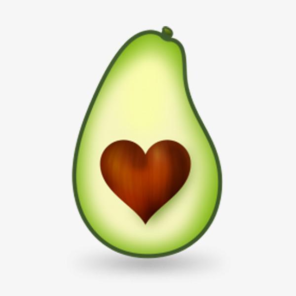Cut in product kind. Avocado clipart avocado half