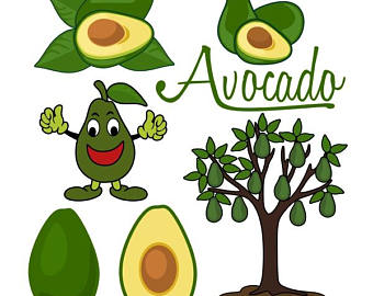 Stamp etsy cuttable design. Avocado clipart avocado tree