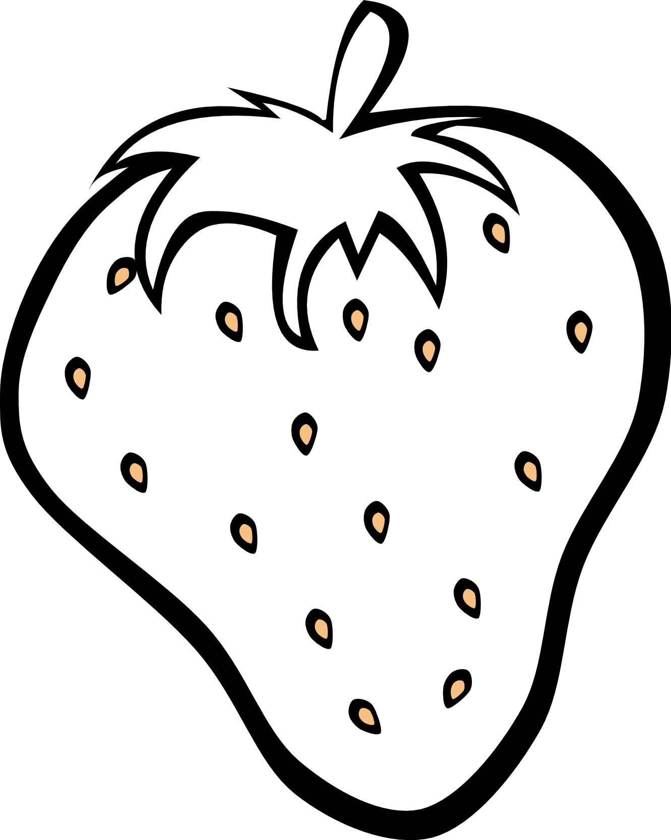 Strawberries clipart angry. Fruit salad black and
