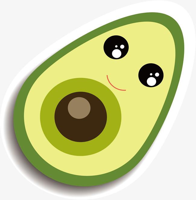 Avocado clipart cartoon. Png vectors psd and