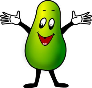 best frutinhas animadas. Avocado clipart cartoon
