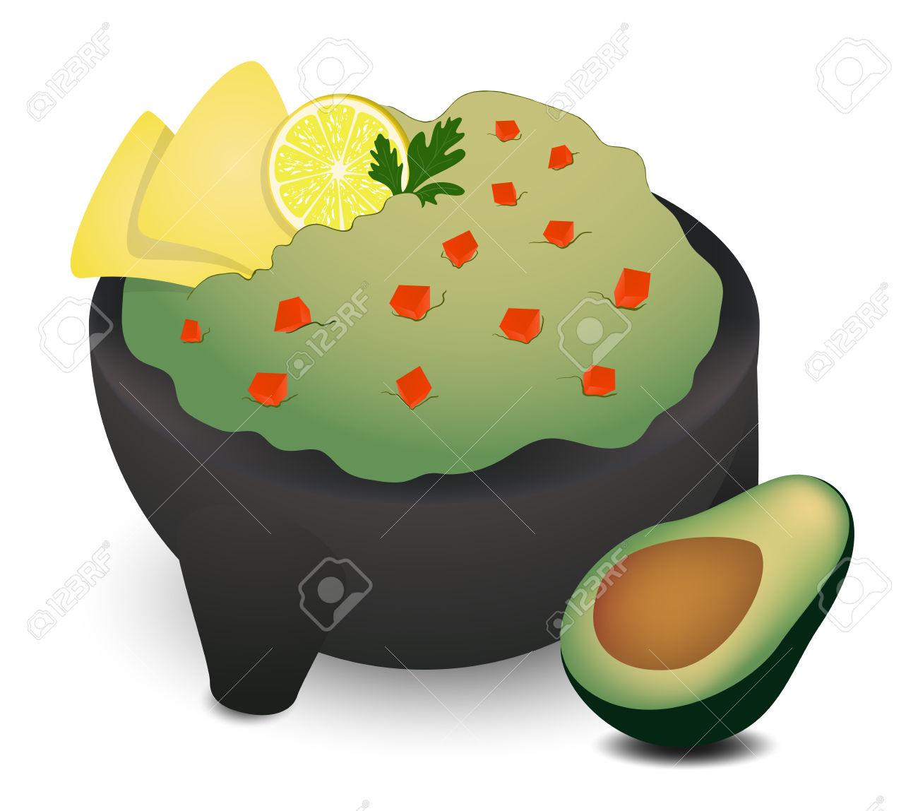 Avocado clipart cartoon. Chip guacamole pencil and