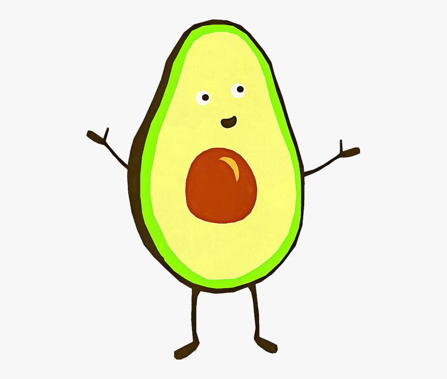 Transparent . Avocado clipart cartoon