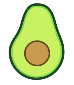 Clip art . Avocado clipart cartoon