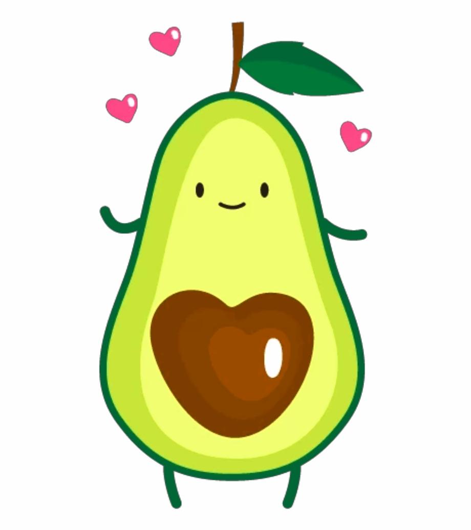 Ftestickers cute . Avocado clipart clip art