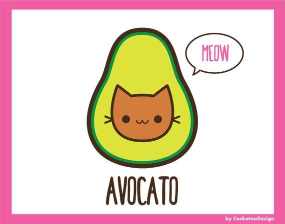 Avocado clipart cute. Kawaii clip art this