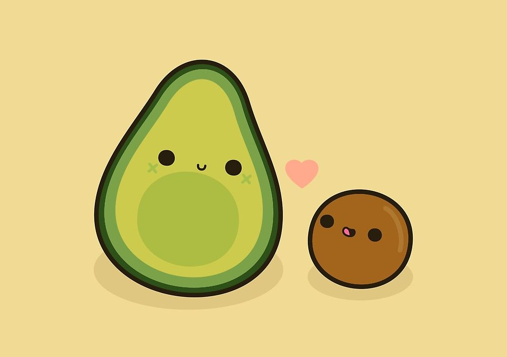 And stone by peppermintpopuk. Avocado clipart cute