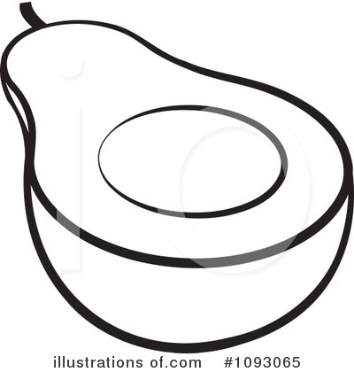 collection of drawing. Avocado clipart draw