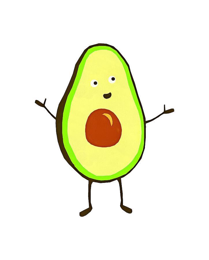 Avocado clipart draw. Drawing at getdrawings com