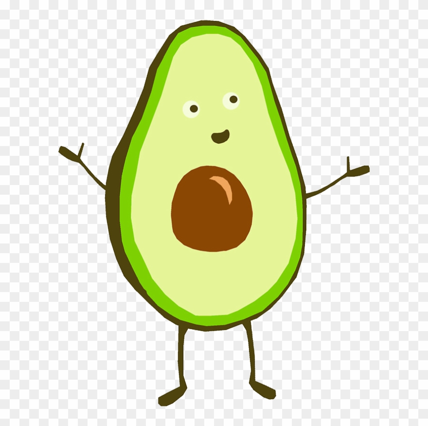 Avocado clipart draw. Report abuse drawing of