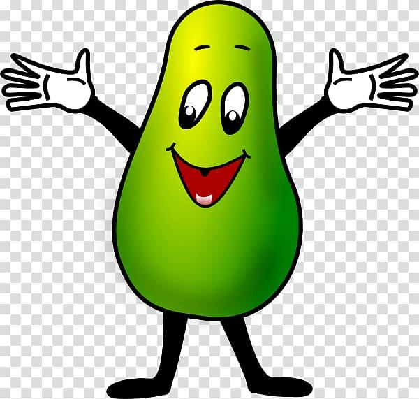Avocado clipart face. Cartoon character transparent background