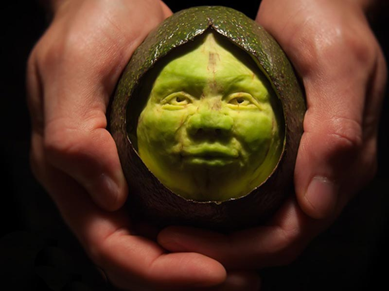 Avocado clipart face. Fruit carving pictures names